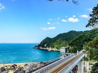 餘部駅(海の見える駅)(車で約25〜30分)