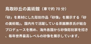 鳥取砂丘の美術館(車で約70分)
